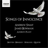 Songs of Innocence - Britten, Barber, Ives, Handel, Warlock, etc / Swait, Bowman, Plant