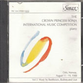 The Crown Princess Sonja International Music Competition Piano, Vol. 2: Music by Beethoven, Brahms and Liszt