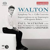 Walton: Symphony No. 2; Cello Concerto; Improvisation on an Impromptu of Benjamin Britten / Paul Watkins, cello; BBC SO; Edward Gardner