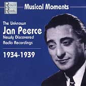 Musical Moments - The Unknown Jan Peerce - Arias and Songs