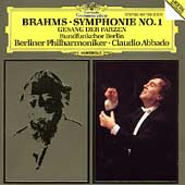 Brahms: Symphony no 1, etc / Abbado, Berlin PO