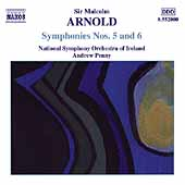 Arnold: Symphonies no 5 and 6 / Penny, Ireland National SO