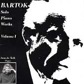 Bartók: Solo Piano Works Vol 1 / June de Toth