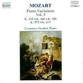 Mozart: Piano Variations Vol 3 / Francesco Nicolosi