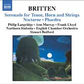 Britten: Serenade for Tenor, etc / Bedford, et al