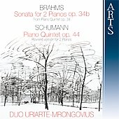 Brahms, Schumann: Piano Sonatas / Duo Uriarte-Mrongovius