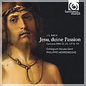 Jesu, deine Passion - Bach: Cantatas BWV 22, 23, 127 & 159 / Herreweghe, Mields, White, et al