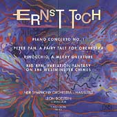 Toch: Piano Concerto, etc / Botstein, Crow, Hamburg SO