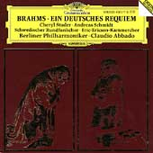 Brahms: Ein Deutsches Requiem / Abbado, Studer, Schmidt