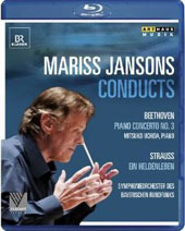 Mariss Jansons Conducts Beethoven and Strauss / Mitsuko Uchida, piano. Bavarian Radio SO. Jansons  [Blu-Ray]