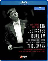 Brahms: Ein Deutsches Requiem / Christine Schäfer, Christian Gerhaher; Munich PO; Thielemann [Blu-ray]