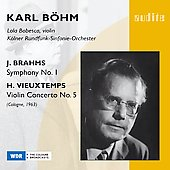 Brahms: Symphony;  Vieuxtemps: Violin Concerto / Karl B&#246;hm
