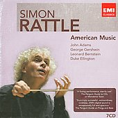 American Music - Adams, Gershwin, Bernstein, Ellington, Ives, Carter, etc / Sir Simon Rattle, London PO, et al