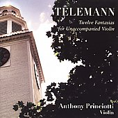 Telemann: Twelve Fantasias for Unaccompanied Violin