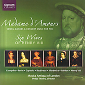 Madame d'Amours - Cornysh, etc / London Musica Antiqua