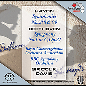 Haydn: Symphonies no 88 & 99;  Beethoven / Davis, et al