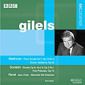 Beethoven: Piano Sonata no 7;  Poulenc: Pastourelle, etc / Emil Gilels