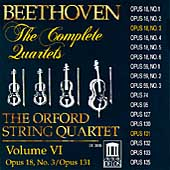 Beethoven: The Complete Quartets Vol VI / Orford Quartet