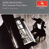 Explorations - New American Piano Music / David Holzman