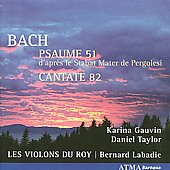Bach: Psalm 51, etc / Gauvin, Les Violons Du Roy
