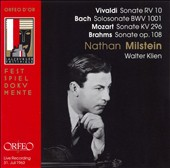 Vivaldi: Sonate RV 10; Bach: Solosonate BWV 1001; Mozart: Sonate KV 296; Brahms: Sonate Op. 108