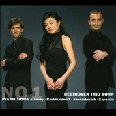Piano Trios No. 1 by Arensky, Rachmaninoff, Shostakovich; Kapustin: Divertissement / Beethoven Trio Bonn