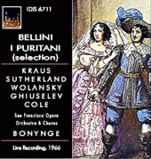 Bellini: I Puritani (Selection) [1966]