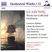 Orchestral Works Vol 11 - Glazunov: Cello and Orchestra