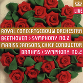 Beethoven: Symphony no 2;  Brahms / Jansons, et al