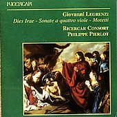Legrenzi: Dies Irae, etc / Philippe Pierlot, Ricercar