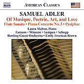 American Classics - Adler: Of Musique, Poetrie, Art and Love, etc / Melton, Farnum, Wincenc, et al