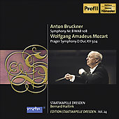 Brucker: Symphony no 8;  Mozart: Prague Symphony K 504 / Haitink, Dresden Staatskapelle