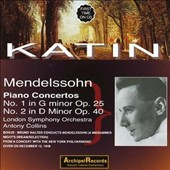 Mendelssohn: Piano Concertos No. 1 in G minor, No. 2 in D minor