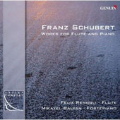 Schubert: Works for Flute and Piano - Variations D.802; Sonatas D.385 & D.574 / Felix Renggli, flute; Mikayel Balyan, piano