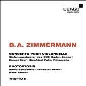 B.A. Zimmermann: Cello Concerto; Photoptosis; Tratto 2 / Siegfried Palm, cello