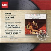 Fauré: Requiem; Pavane; Duruflé: Requiem / Robert Chilcott, Janet Baker, John Carol Case - Ledger, Willcocks