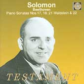 Beethoven: Piano Sonatas no 17, 18, 21 & 22 / Solomon