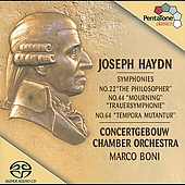 Haydn: Symphonies no 22, 44, 64 / Boni, Concertgebouw CO
