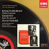 Khachaturian: Violin Concerto;  Taneyev / Oistrakh, et al