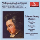 Mozart: Quintet for Horn & Strings; Quartet for Piano & String in G minor; Quintet for Clarinet & St