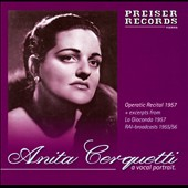 A Vocal Portrait: Operatic recital 1957; RAI broadcasts 1955/56, etc. / Anita Cerquetti, soprano