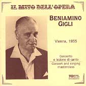 Beniamino Gigli - Vienna Concert and A Singing Masterclass