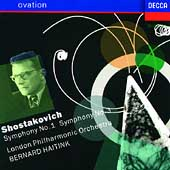 Ovation - Shostakovich: Symphonies no 1 and 3 / Haitink, LPO