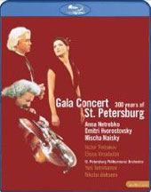 Gala Concert - 300 Years at St. Petersburg / Netrebko, Hvorostovsky, Maisky [Blu-Ray]