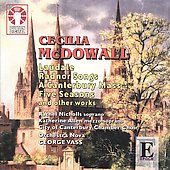 McDowall: Laudate, Radnor Songs, A Canterbury Mass, Five Seasons / Nicholls, Allen, Vass, Orchestra Nova