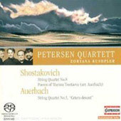 Shostakovich: String Quartet no 8;  Auerbach / Zoryana Kushpler, Petersen Quartet