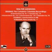Walter Gieseking Plays Brahms