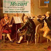 Mozart: The Last Four String Quartets Vol 1 / Chilingirian