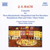 Bach: Concerto for 3 Harpsichords, etc / Müller-Brühl