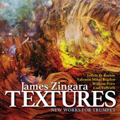 Textures: Works for Trumpet by Jeffrey D. Boehm, Carl Vollrath, Valentin Mihai Bogdan, Willliam Price / James Zingara, trumpet; Chris Steele, piano; The UAB Chamber Trio